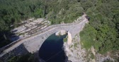pyrenees : Aerial, Pont Medieval De Lllierca, Pyrenees, Spain - native Version