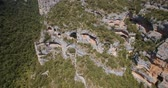 овраг : Aerial, Barranco De Argatin At Rio Vero, Pyrenees, Spain - graded Version