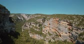 pirineus : Aerial, Barranco De Argatin At Rio Vero, Pyrenees, Spain - graded Version