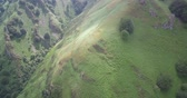 гористый : Aerial, Col D Aintziaga, Spanish-French Border, Pyrenees, Spain - native Version Стоковые видеозаписи