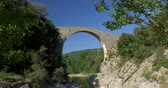 pirineus : Pont Medieval De Lllierca, Pyrenees, Spain - native Version