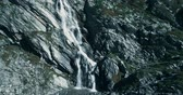off the beaten track : Aerial, Flying Above Waterfalls At Rifugio Scarfiotti, Italy - Bleach Bypass
