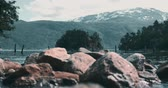 escandinavo : River In Norway Stock Footage