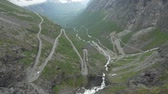 enrolamento : The Trollstigen, Norway - Untouched Version Stock Footage