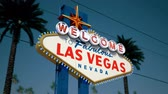 letreiro : Las Vegas Sign, Crash Pan, Left To Right Stock Footage