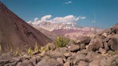 pedra : Time Lapse, Mountains At The Embalse El Yeso, Chile