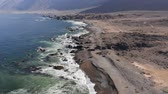 гористый : Aerial, Coastline At Paposo National Reserve, Chile - neutral version