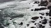 gewicht : Aerial, Beach At The Coast Of Pan De Azucar National Park, Chile - neutral version Stock Footage