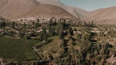 gras : Aerial, Above Tualhuen, Home Of The Lapislazuli, Chile - cine version Stock Footage