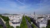 oblouk : Paris Skyline From The Triumphal Arch, France, neutral version
