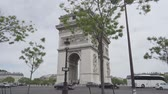 Arc De Triomphe, Paris, France, flat version Stockvideo
