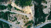 el değmemiş : Aerial view of mountains and mountain roads, Montenegro