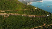coastal road : Aerial view of mountains and mountain roads, Montenegro