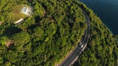 aerial view of mountain road on Adriatic coast