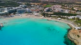 데 : Aerial view of beautiful Nissi beach in Ayia Napa 무비클립