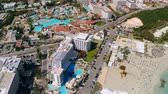 데 : Aerial view of modern premium hotels in Ayia Napa, Cyprus