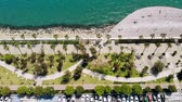 키프로스 : Limassol city embankment on sunny day, aerial view