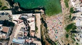 zeepaard : Aerial view of Lama Monachile Beach in Italian city of Polignano a Mare