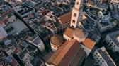 campana : Flying over roof of church in old town of Bari, Italy