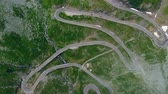 serpent : Aerial view Transfagaras mountain road, Romania, Transylvania