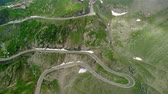 サーペンタイン : Aerial View of Transfagaras mountain road in Transylvanian Carpathian, Romania