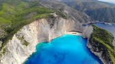 panoramic view of famous shipwreck beach Zakynthos, Greece