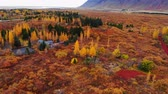 сентябрь : Colorful autumn landscape in national park Thingvellir, Iceland Стоковые видеозаписи