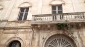 authentisch : Facade of an old building on the street of Polignano a Mare, Italy, panoramic view Videos