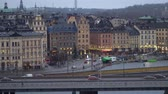 STOCKHOLM, SWEDEN - DECEMBER 4, 2019: Panorama of the city with a view of the Gamla Stan district. Dostupné videozáznamy