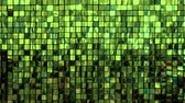 mattoncini : Many shiny green squares. Bright background