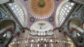 interior : Interior view in Suleymaniye Mosque, Istanbul, Turkey