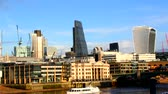 willis tower : London city, Thames embankment Stock Footage