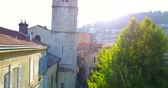 NOTRE-DAME DU PUY CATHEDRAL, Old Bells Ringing In A Church Tower in typical Provence town GRASSE