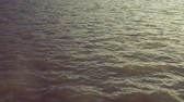 undulation : water ripples on lake natural motion background, slow motion. Stock Footage