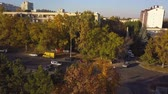 neighbor : Aerial shot of autumn city, Kishinev, Moldova. Stock Footage