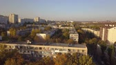 front or back yard : Aerial shot of autumn city, Kishinev, Moldova. Stock Footage