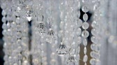 requintado : Crystal pendants decoration, decor elements close-up. Stock Footage