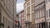 krakow : Architecture Of Krakow. Walk through the streets of the old town. Stock Footage
