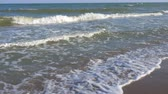 polluting : Dirty sea after a sea storm. Stock Footage