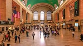 New York - October 4, 2013: People on moving in the Grand Central Station, NYC city Dostupné videozáznamy