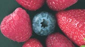 amoras : Fresh Berries Rotating on Close Up