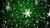 摘要 : New Years frosty background and falling snowflakes