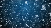 celebration : Christmas background with snowflakes - falling snow Stock Footage