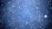januari : Falling snowflakes, snow background