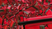 dispositivo : Abstract Usb flash drives in red