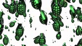 granada : Grenades in green on white Stock Footage