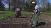 farming machinery : Woman with spade.Gardening concept