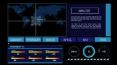 longitude : Global random data analysis interface and display Stock Footage