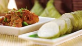 pegajoso : Selective focus of Malay traditional food Stock Footage