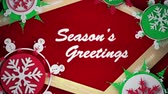 ribbon : Paper craft pop up with Season Greetings message Stock Footage